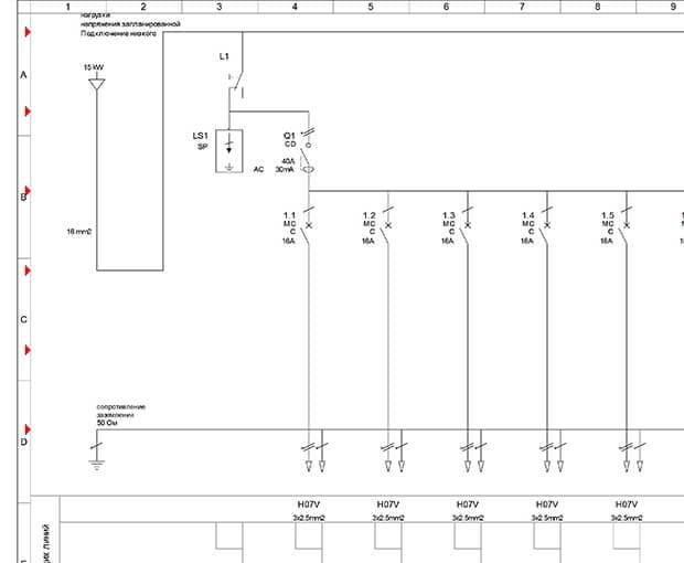 Проектируется схема электрощита